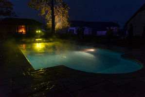 Higher Eggbeer pool at night
